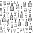 pattern or background alcohol vector image
