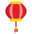 red and yellow lantern on white background vector image