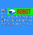 robot helper set future lifestyle vector image vector image