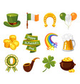 saint patricks day flat set vector image vector image