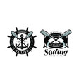seafaring sailing logo or label marine concept vector image vector image