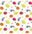 seamless fruit pattern bright ornament vector image vector image