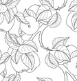 Seamless Monochrome Fruit Pattern vector image