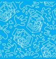 seamless pattern package of milk vector image