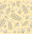 seamless pattern with pastel branches and leaves vector image