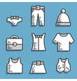 Set icons Dress code vector image vector image