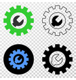 setup tools eps icon with contour version vector image