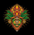 simple mandala designs tattoo vector image vector image