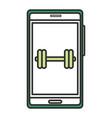 smartphone with sport app vector image vector image