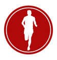 sports sign icon male runner vector image vector image