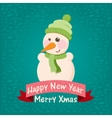 stock christmas background and greeting card with vector image vector image