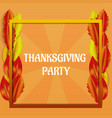 thanksgiving day party concept background vector image vector image