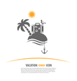 Tourism and Vacation Logo vector image vector image