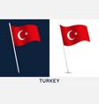 turkey flag waving national flag vector image