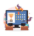 video game rewards concept for web banner vector image vector image