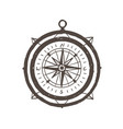 vintage magnetic compass hand drawn with outlines vector image