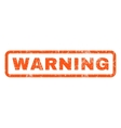 Warning Rubber Stamp vector image vector image