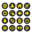 web and mobile icons set on white background vector image vector image