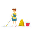 woman housewife characters woman housewife washes vector image vector image