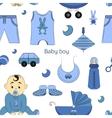 Baby boy design pattern vector image