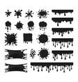 black drops set vector image