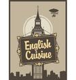 English cuisine vector image