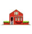 A big wooden house vector image vector image