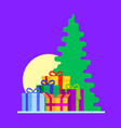 abstract gift boxes composition with christmas vector image vector image