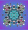 abstract mandala or whimsical snowflake line art vector image
