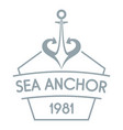 anchor logo simple gray style vector image vector image