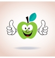 apple mascot cartoon character vector image