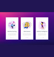 artificial intelligence app interface template vector image vector image