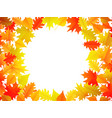 autumn leaves background with copyspace vector image
