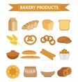 Bakery products icon set flat style of vector image vector image