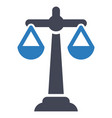 balance scale business icon vector image vector image