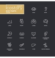 Body parts modern simple thin line design icons vector image