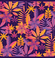 bright ultraviolet tropical seamless pattern vector image vector image