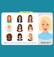 business woman avatars team icons collection vector image vector image