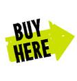 buy here sticker vector image vector image
