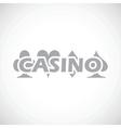 Casino black icon vector image