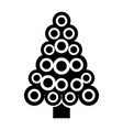 christmas tree decoration ornament abstract image vector image vector image