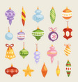 christmas tree toys decorations balls vector image