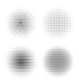 circles with dotts abstract halftone vector image