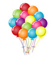 colorful balloons design on white background vector image