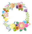 craft paper flowers vector image vector image