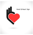 Creative hand and heart shape abstract vector image vector image
