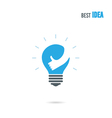 Creative light bulb logo design template vector image vector image