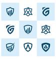 Creative shield logo and icon set