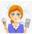 cute cartoon businesswoman vector image vector image