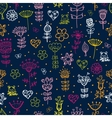 cute cartoon floral seamless pattern vector image vector image